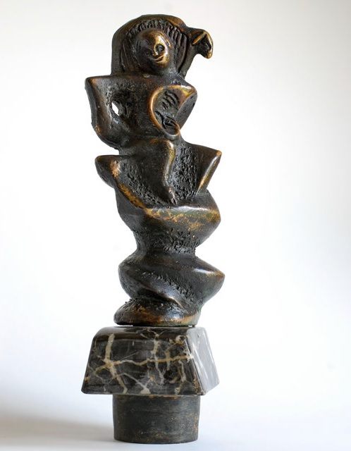 the good shepherd (V) - bronze, black marble, 33x11x8cm - 1997 - 1300eur