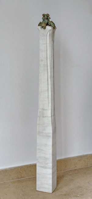 the four evanghelists - bronze, marble, 111x12x12cm - 2011 - 1000eur