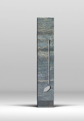 window for other worlds (I) - green marble of guatemala, 240x40x10cm - 4000eur - this sculpture is work in progress. it can be finished in 3 weeks from the moment of commision